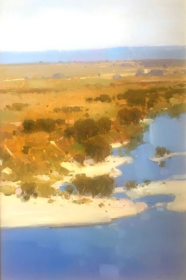 Riverside, Original oil Painting, Framed