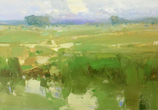 Harvest, Original oil Painting, Handmade artwork,