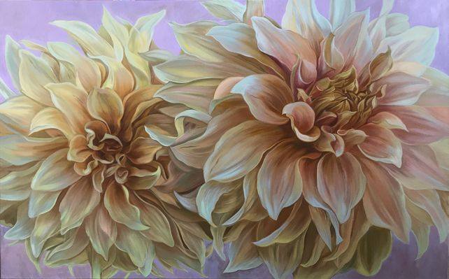 Dahlias « Cafe au Lait  »