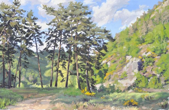 May 11, path in gorges of the Loire