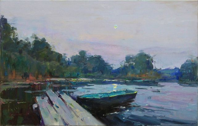 Twilight by the river