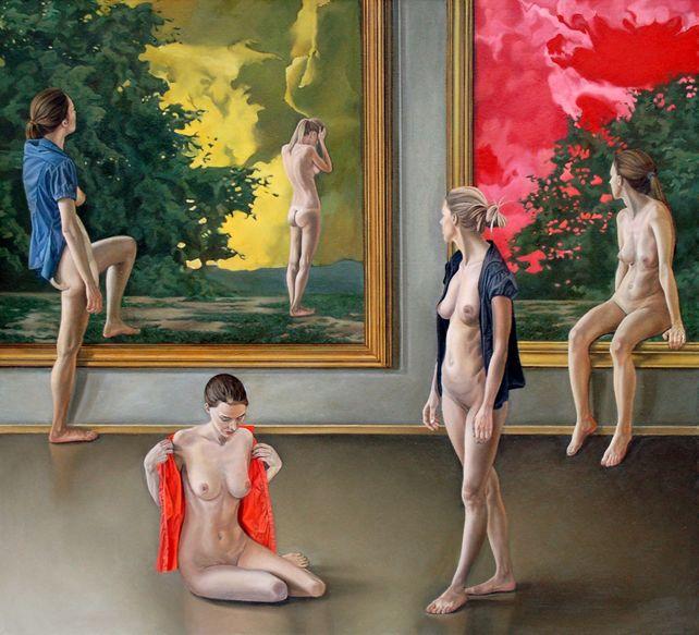 Between paintings