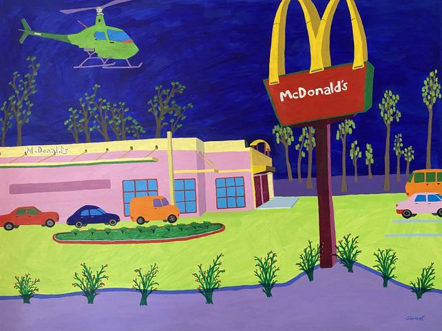 Helicopter Over McDonald's