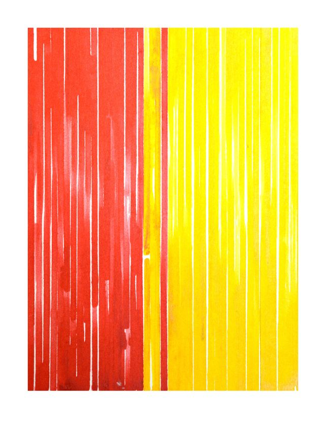 Abstraction | Stripes [yellow/red]