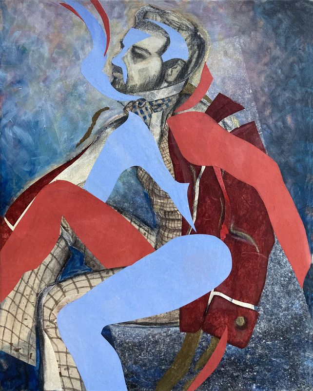 Shape Shifter, abstract figurative collage