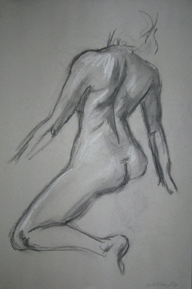 Quick Sketch IV, charcoal drawing