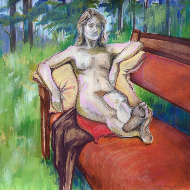 Female Figure in a Landscape, painting
