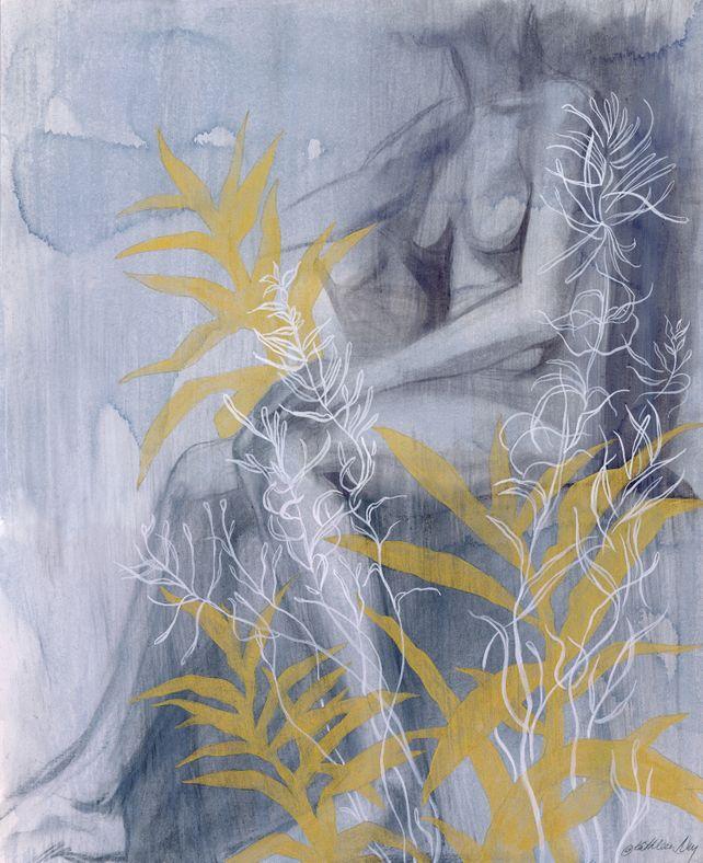 Figure with Foliage
