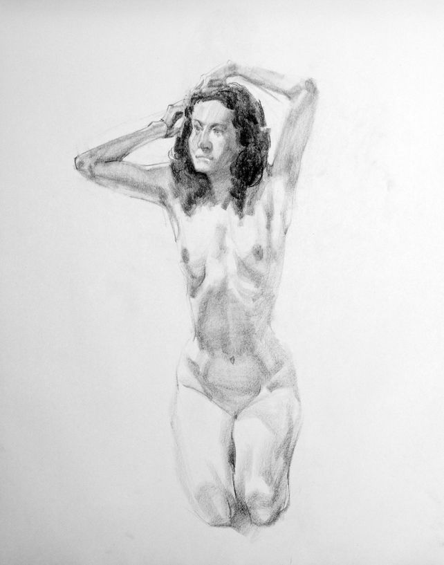 20110629 Charcoal Life Drawing: Female Nude 07