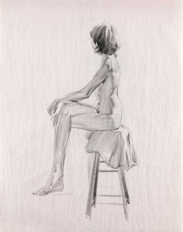 2017020802 Girl Sitting On Stool