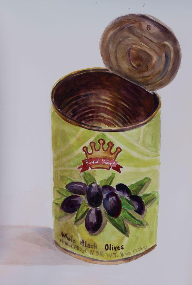 Whole Black olives