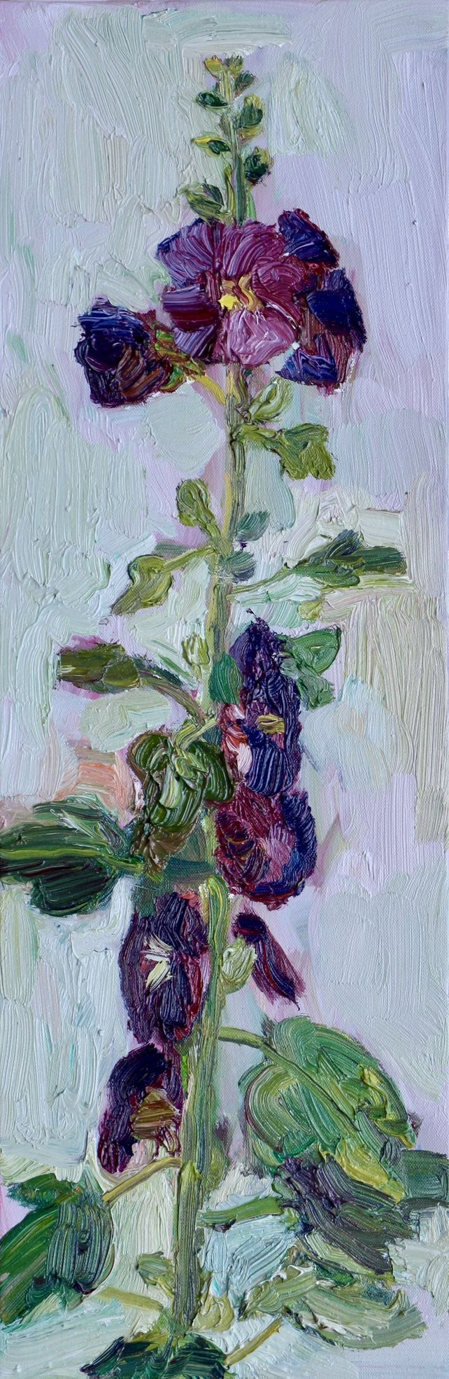 Hollyhock Plein Air #2