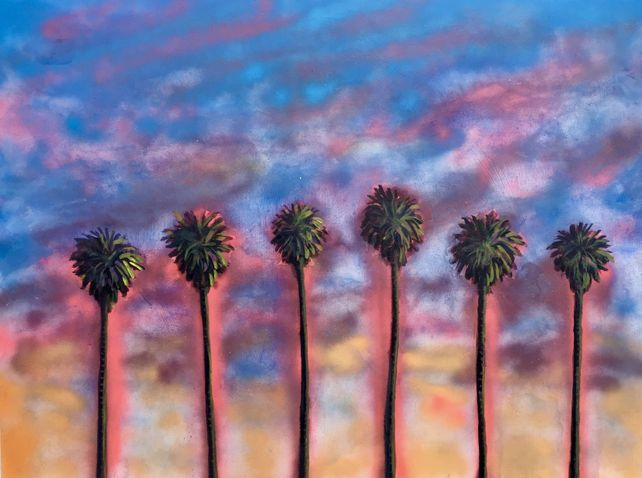 Spray Painted Palm Trees