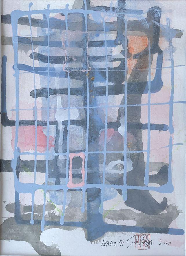 Largo 51 abstract modern minimal painting