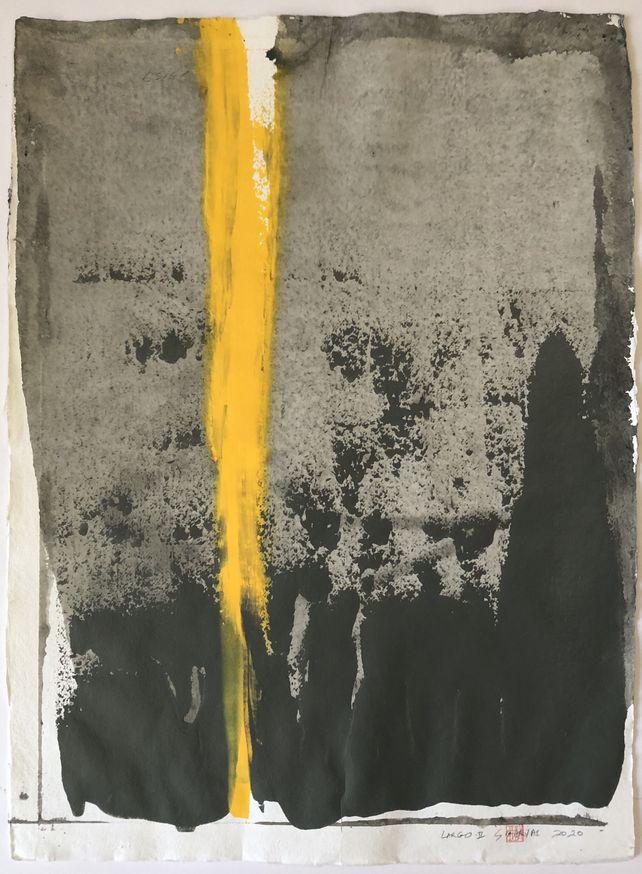 Largo.II  acrylic painting on Japanese paper