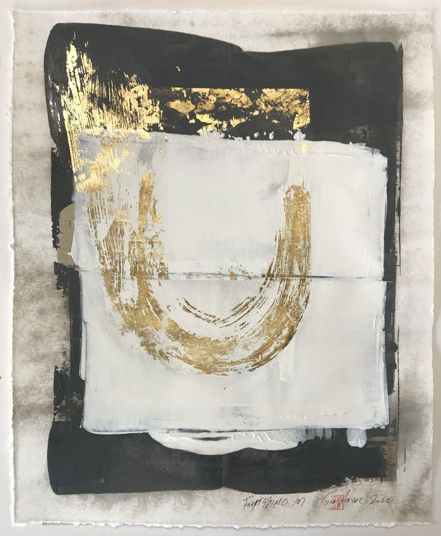 Fortissimo 107 one of a kind gold leaf painting