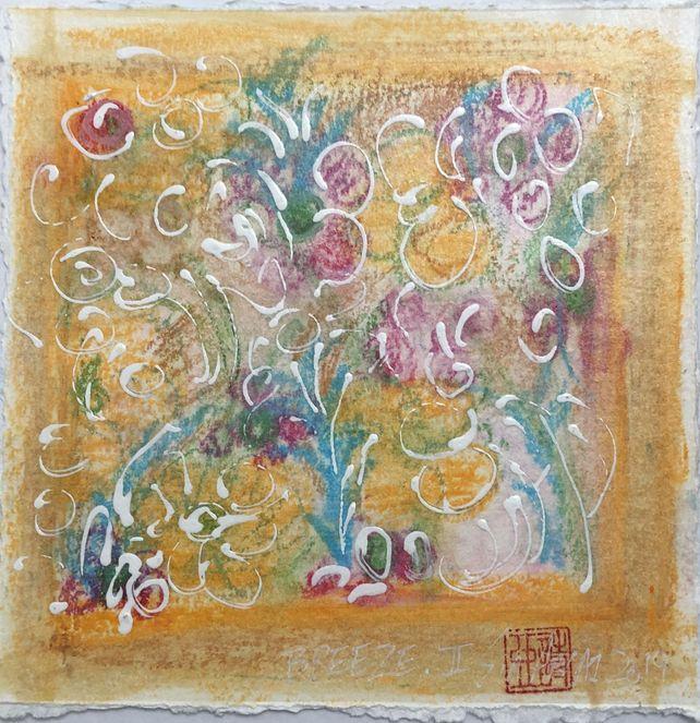Breeze.II  acrylic/oil pastel painting