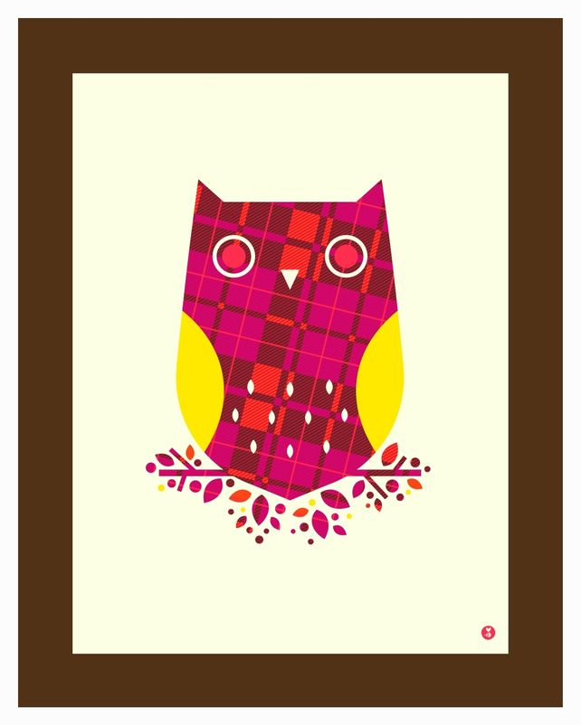 pattern series: plaid owl