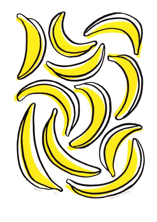 Bananas print