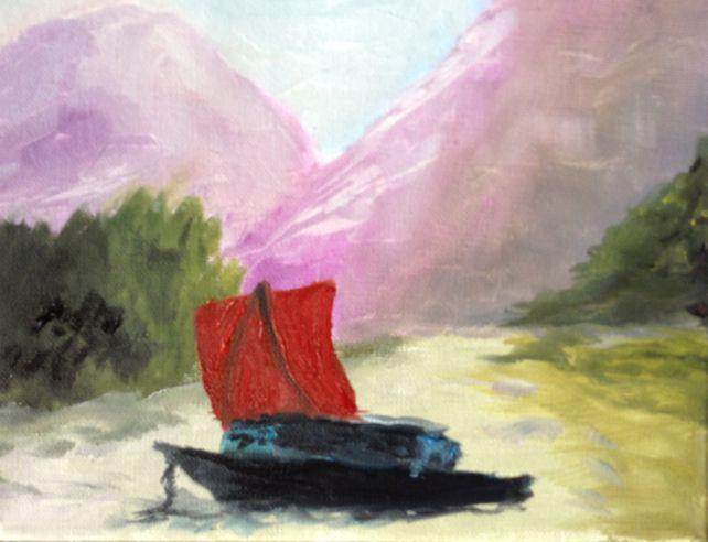 Riverboat on Li River at Guilin, China