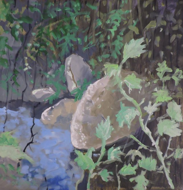 Forest Pond Abstract