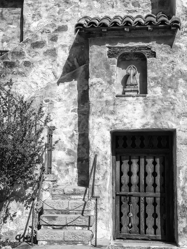 Old Mission Detail, Carmel Mission