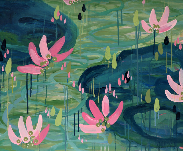 Lily Pond in Pink
