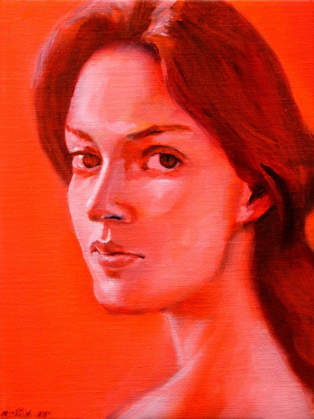 Orange mood 18 x 24 cm.