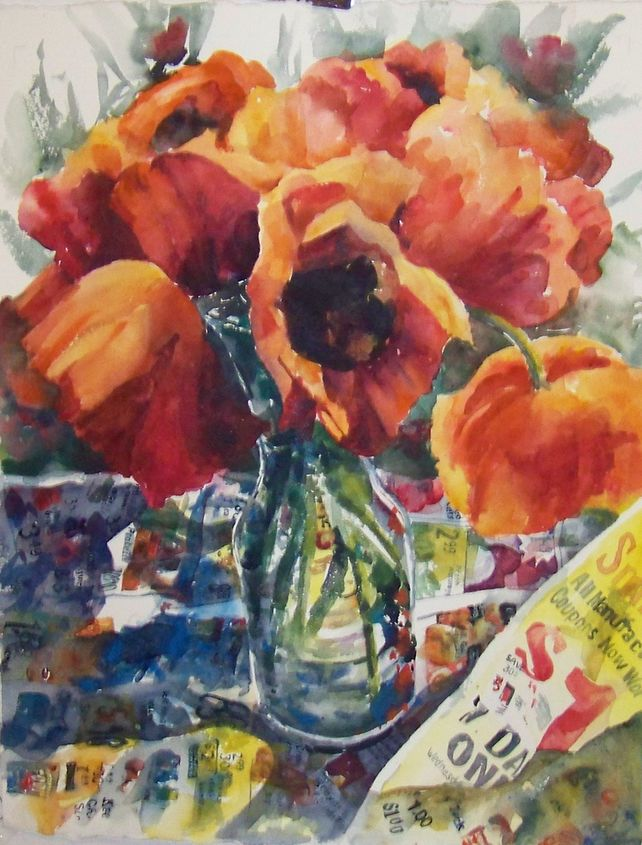 Poppies, Paper and Paint